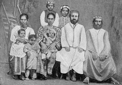 Cochin Jews around 1905 (credit: Jewish Encyclopedia)