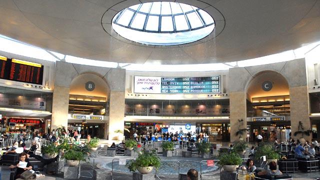 Security is everywhere - Ben Gurion's departure area (Credit: Moshe Millner, GPO)