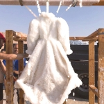 A magical salt covered dress - Sigalit Landau's art at the Dead Sea (Credit: Courtesy, CNN)