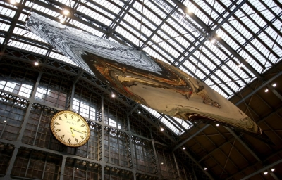 Ron Arad's art at St Pankras railstation (Credit: Courtesy)