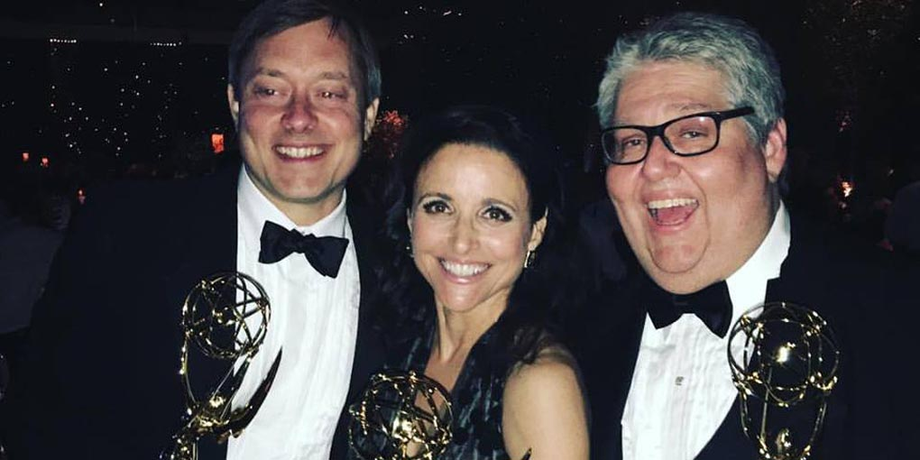 Julia Louis-Dreyfus at this year's Emmys Awards (Credit: Julia Louis Dreyfus Facebook)