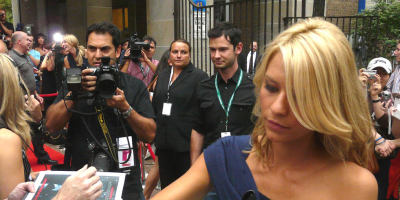 Clare Danes - one of the Homeland stars - signing autograms (Credit: Christopher Harte, Wikimedia)