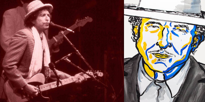 Bob Dylan - 25 years ago and today (Credit: Chris Hakkens, Wikimedia & Nobel Press 2016)