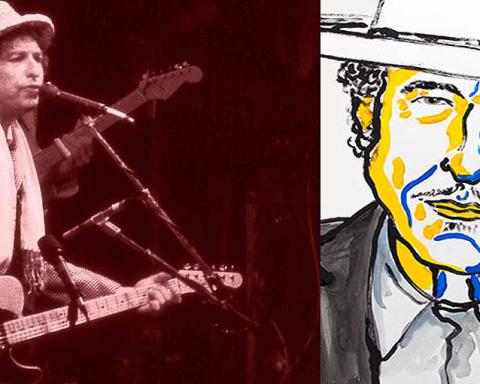Bob Dylan - 25 years ago and today (Credit: Chris Hakkens, Wikimedia & Nobel Press 2016)