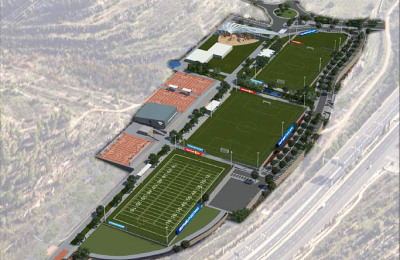 The first impression: An illustration of the Kraft's sports campus (Credit: Dagan Company)