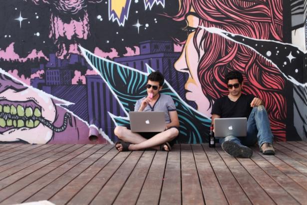 Creative startup company WIX in Tel Aviv's port (credit: Wix.com)
